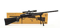 Детский автомат ZM51, снайперская винтовка Airsoft Gun с пульками и прицелом.