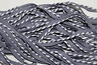 Кант текстильный (50м) серый+белый