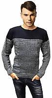Серый свитер мужской теплый
