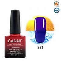 Термо гель-лак Canni 331 темно-синий - фиолет