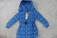 Теплое пальто пуховик для девочки Польша