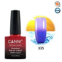 Термо гель-лак Canni 335 синий - светло-сиреневый