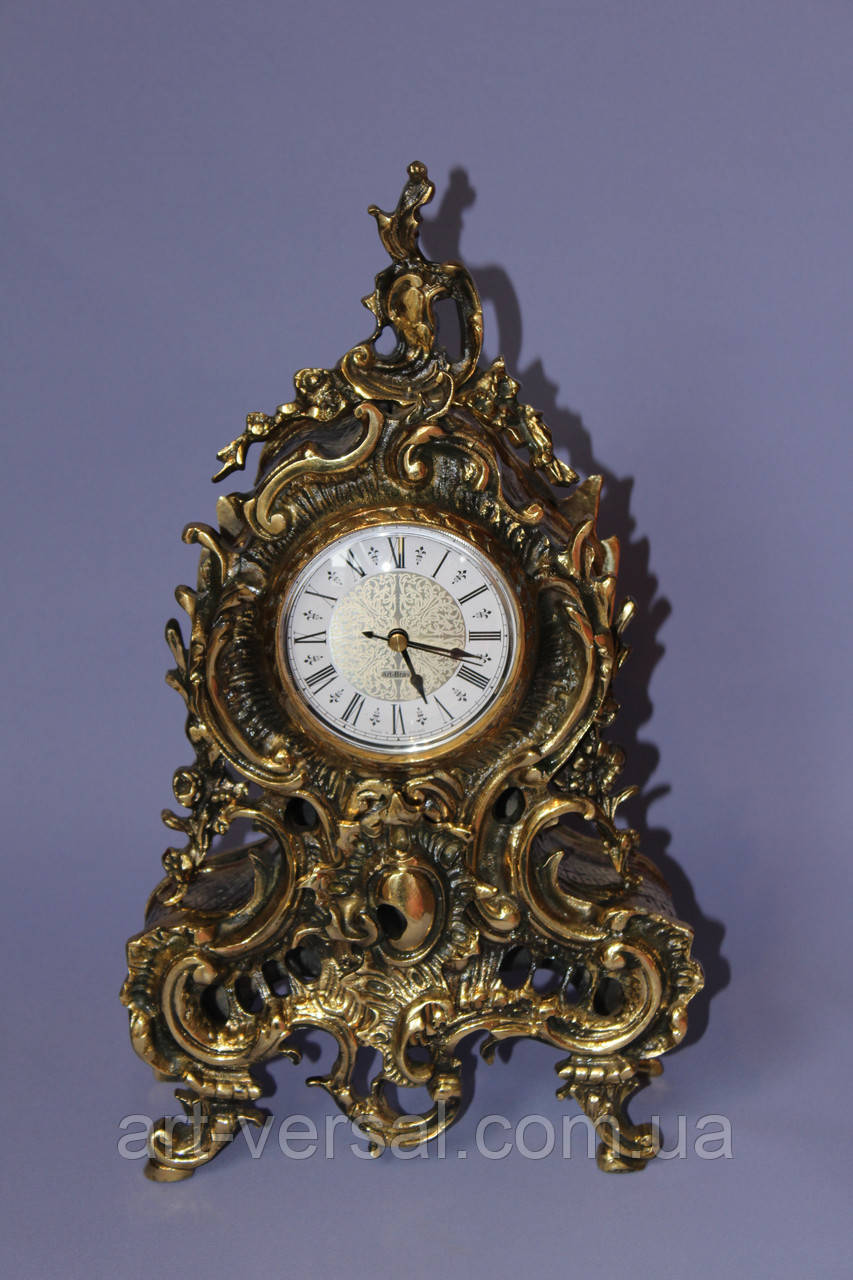 """Часы каминные """"Бульдог"""" из бронзы"""