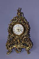 """Часы каминные """"Бульдог"""" из бронзы, фото 1"""