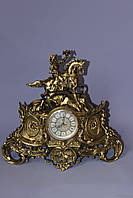 "Часы ""Амазонка"" из бронзы каминные, фото 1"