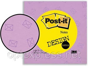 Post-it цветные стикеры 100х100мм 75 листков с фоновым рисунком 5675  3M