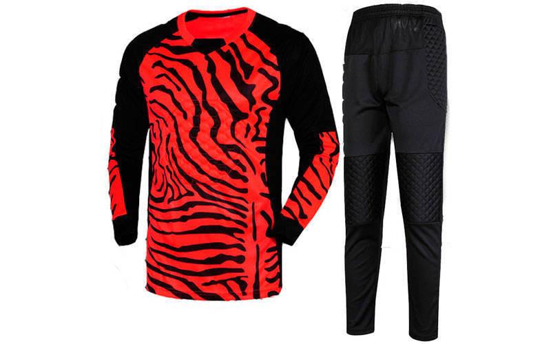 Форма футбольного воротаря юніорська CO-0233-R червона з чорним