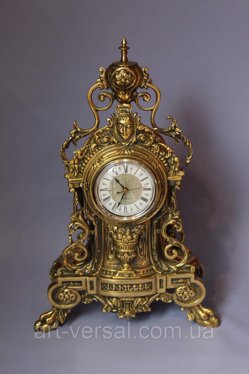 "Часы каминные ""Маска"" из бронзы"