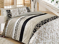 Хлопковый комплект постельного белья ЕВРО размера Cotton Box DEBORAH BEJ CB03