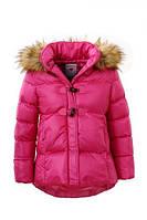 Плотная удлиненная куртка для девочек оптом,Glo-story, 92-128 pp. арт.,GMA-2745