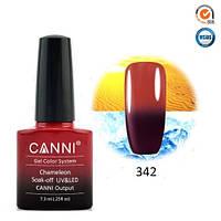 Термо гель-лак Canni 342 вишнево - красный