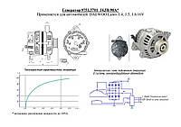 Генератор 9751.3701 для авто DAEWOO Lanos 1.4, DAEWOO Lanos 1.5, DAEWOO Lanos 1.6 16V