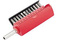 Набор бит, сталь S2, 12 шт, встроенный магнитный адаптер, в пласт. боксе// MTX MASTER 11314