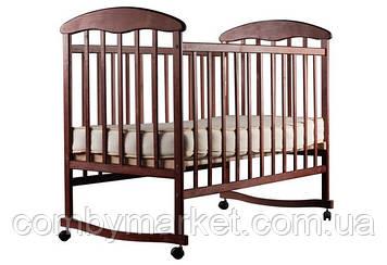 Детская кроватка Наталка, ольха темная