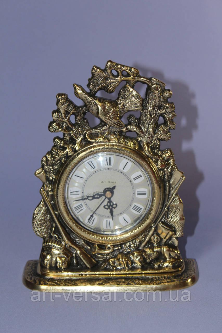 "Сувенирные часы ""Фазан"" бронза"
