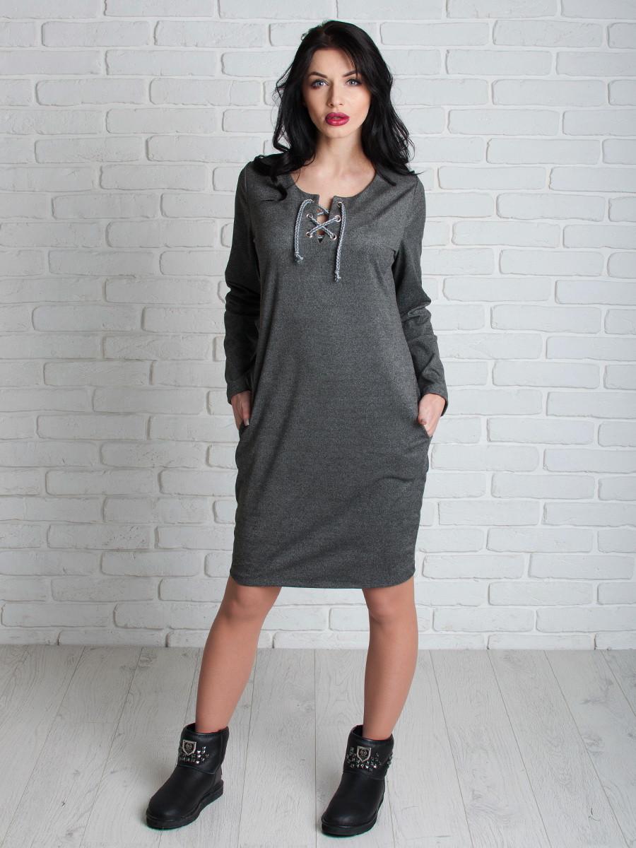 Платье женское из замша