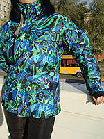 Горнолыжная женская куртка ветрозащитная Windstopper водоотталкивающая прорезиненные замки мембрана унисекс