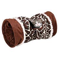 Тоннель для кошки, 22х50см., жираф, плюш.