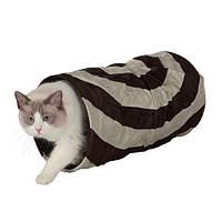 Тоннель для кошки, шуршащий, 50 см, ф 25 см.