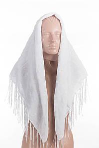 Белый платок с напылением