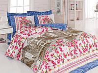 Хлопковый комплект постельного белья ЕВРО размера Cotton Box SUZI PEMBE CB03