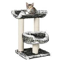 """Домик для кошки """"Isaba"""", 62см., черный/белый."""