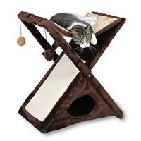 """Домик для кошки """"Miguel"""", 50х62х39см, плюш, коричневый/беж."""