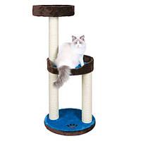 "Домик для кошки ""Lugo"", 103см, плюш, коричневый/синий."
