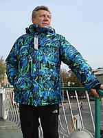 Горнолыжная мужская куртка ветрозащитная Windstopper водоотталкивающая прорезиненные замки мембрана