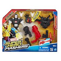 Электронная разборная фигурка героя фильма Мстители Военная машина, Super Hero Mashers Marvel