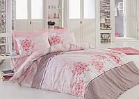 Хлопковый комплект постельного белья ЕВРО размера Cotton Box SONYA PUDRA CB03