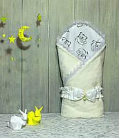 "Конверт-одеяло на выписку Piccolino ""Milky Bear"""