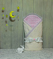 "Конверт-одеяло на выписку Piccolino ""Milky pink"""