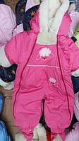"""Детский зимний комбинезон для новорожденных """"SHEEP"""" (розовый)"""