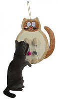 """Когтеточка """"Кошка"""" с игрушками 36х50 см"""