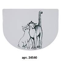 "Коврик под миску ""Pussycat"" 40х30 см, белый"