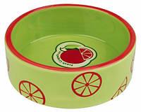 Миска керамическая Fresh Fruits, 0.8 л/ø 16 см, светло-зеленая