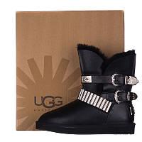 Угги женские кожаные UGG AUSTRALIA T16-6046 черные