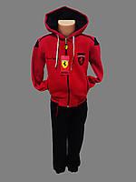 Детский зимний спортивный костюм с начесом Ferrari Турция