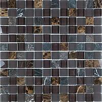 Мозаика мрамор стекло Vivacer SYNmix02