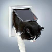 Дверца для кошки магнитная 14,7 х 15,8 см, белая