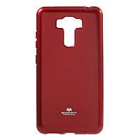 Чехол накладка силиконовый TPU Mercury для Asus Zenfone 3 Laser ZC551KL красный