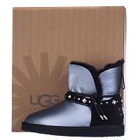 Угги женские кожаные UGG AUSTRALIA T16005 Серебро
