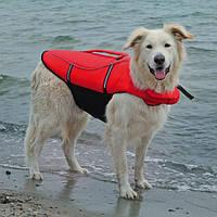 Спасательный жилет для собак, L: 54 см, (50-80 см./36 кг.), красный/черный