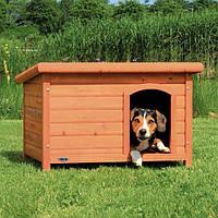 Будка для собаки с плоской крышей natura,  L: 104 х 72 х 68 см, коричневый