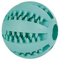 """Игрушка для собаки """"Мяч для бейсбола DENTAfun"""", ф 5 см, резина, зеленый"""