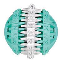 """Мяч """"DentaFan"""" 7.5 см, резина, белый/зеленый"""