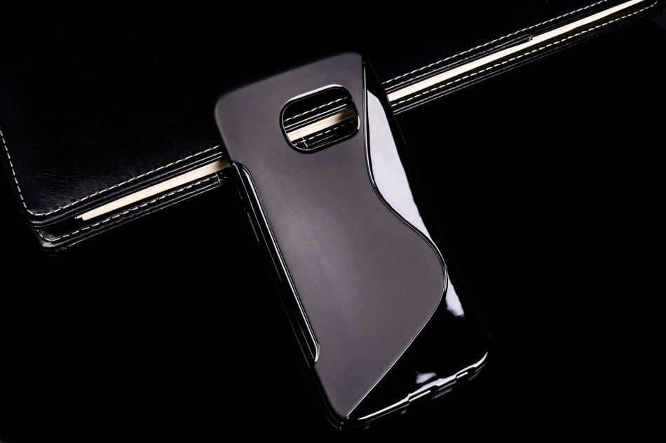 Чехол Samsung G925 / S6 edge силикон TPU S-LINE черный