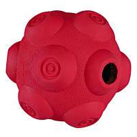 Игрушка для собак мяч для лакомств, 9 см, резина