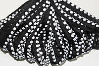 Кант текстильный (50м) черный+белый, фото 1